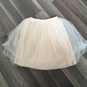 Girls Crewcuts Cream Tulle Skirt